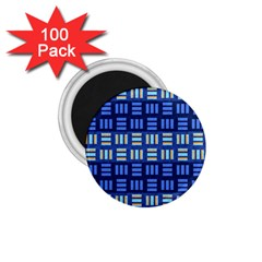 Textiles Texture Structure Grid 1 75  Magnets (100 Pack)  by Celenk