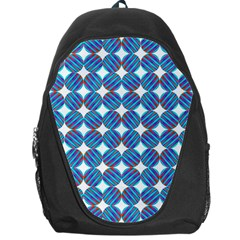 Geometric Dots Pattern Rainbow Backpack Bag by Celenk