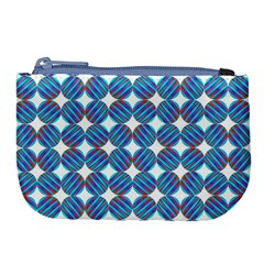 Geometric Dots Pattern Rainbow Large Coin Purse by Celenk