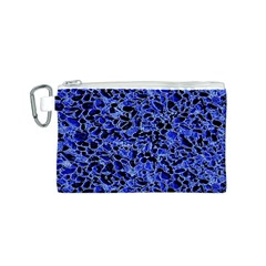 Texture Structure Electric Blue Canvas Cosmetic Bag (s) by Celenk