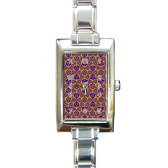 Sacred Geometry Hand Drawing 2 Rectangle Italian Charm Watch by Cveti