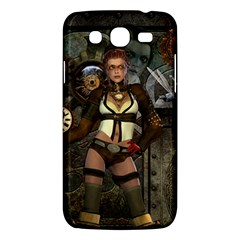Steampunk, Steampunk Women With Clocks And Gears Samsung Galaxy Mega 5 8 I9152 Hardshell Case  by FantasyWorld7
