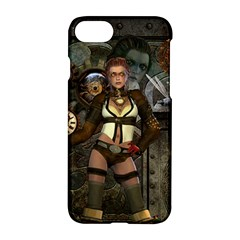 Steampunk, Steampunk Women With Clocks And Gears Apple Iphone 7 Hardshell Case by FantasyWorld7