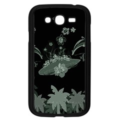 Surfboard With Dolphin, Flowers, Palm And Turtle Samsung Galaxy Grand Duos I9082 Case (black) by FantasyWorld7