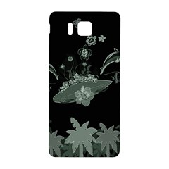 Surfboard With Dolphin, Flowers, Palm And Turtle Samsung Galaxy Alpha Hardshell Back Case by FantasyWorld7