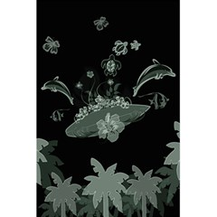Surfboard With Dolphin, Flowers, Palm And Turtle 5 5  X 8 5  Notebooks by FantasyWorld7