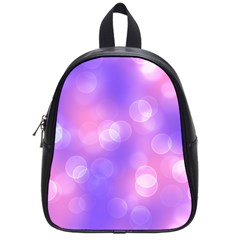 Soft Lights Bokeh 1 School Bag (small) by MoreColorsinLife