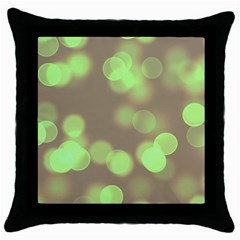 Soft Lights Bokeh 4c Throw Pillow Case (black) by MoreColorsinLife