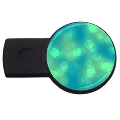 Soft Lights Bokeh 1b Usb Flash Drive Round (2 Gb) by MoreColorsinLife