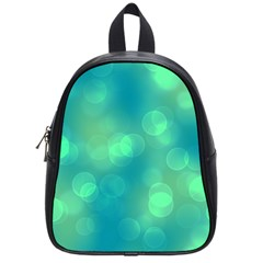 Soft Lights Bokeh 1b School Bag (small) by MoreColorsinLife