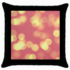 Soft Lights Bokeh 4b Throw Pillow Case (black) by MoreColorsinLife