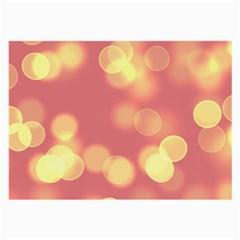 Soft Lights Bokeh 4b Large Glasses Cloth (2 Side) by MoreColorsinLife