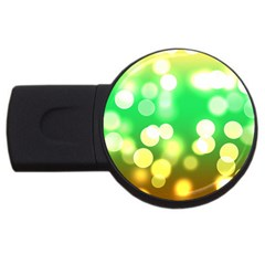 Soft Lights Bokeh 3 Usb Flash Drive Round (2 Gb) by MoreColorsinLife