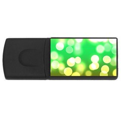 Soft Lights Bokeh 3 Rectangular Usb Flash Drive by MoreColorsinLife