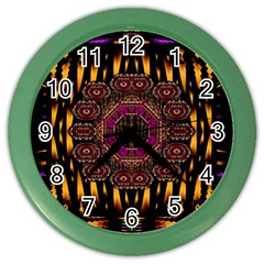 A Flaming Star Is Born On The  Metal Sky Color Wall Clocks by pepitasart