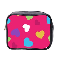 Valentine s Day Pattern Mini Toiletries Bag 2 Side by allthingseveryday