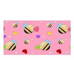 Bee Mine Valentine Satin Shawl by allthingseveryday