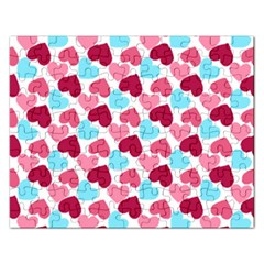 Bold Valentine Heart Rectangular Jigsaw Puzzl by allthingseveryday