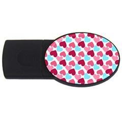 Bold Valentine Heart Usb Flash Drive Oval (4 Gb) by allthingseveryday