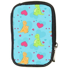 Dinosaur Love Pattern Compact Camera Cases by allthingseveryday