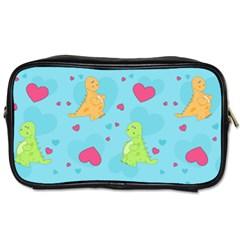 Dinosaur Love Pattern Toiletries Bags 2 Side by allthingseveryday