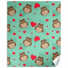 Owl Valentine s Day Pattern Canvas 16  X 20   by allthingseveryday