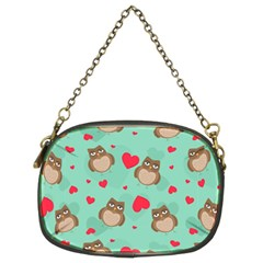 Owl Valentine s Day Pattern Chain Purses (two Sides)  by allthingseveryday