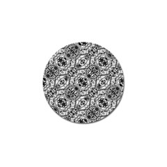 Black And White Ornate Pattern Golf Ball Marker (10 Pack) by dflcprints