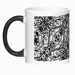 Black And White Ornate Pattern Morph Mugs by dflcprints