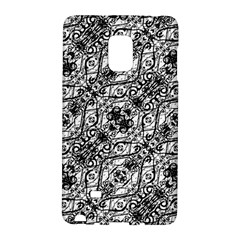 Black And White Ornate Pattern Galaxy Note Edge by dflcprints