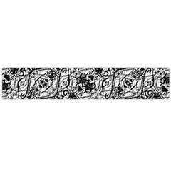Black And White Ornate Pattern Large Flano Scarf  by dflcprints