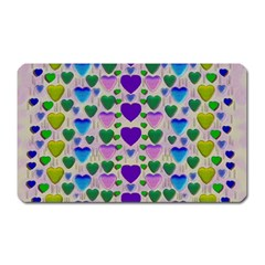 Love In Eternity Is Sweet As Candy Pop Art Magnet (rectangular) by pepitasart
