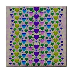 Love In Eternity Is Sweet As Candy Pop Art Face Towel
