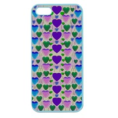 Love In Eternity Is Sweet As Candy Pop Art Apple Seamless Iphone 5 Case (color) by pepitasart