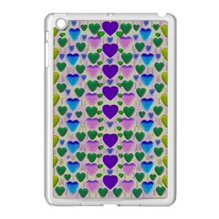 Love In Eternity Is Sweet As Candy Pop Art Apple Ipad Mini Case (white) by pepitasart