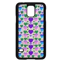 Love In Eternity Is Sweet As Candy Pop Art Samsung Galaxy S5 Case (black) by pepitasart
