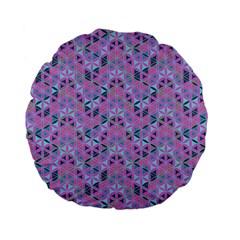 Sacred Geometry Pattern 2 Standard 15  Premium Flano Round Cushions by Cveti