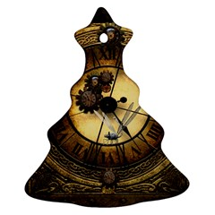 Wonderful Steampunk Desisgn, Clocks And Gears Ornament (christmas Tree)  by FantasyWorld7