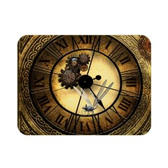 Wonderful Steampunk Desisgn, Clocks And Gears Double Sided Flano Blanket (mini)  by FantasyWorld7