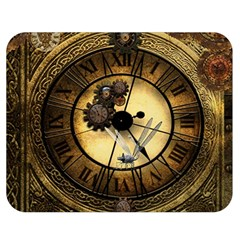 Wonderful Steampunk Desisgn, Clocks And Gears Double Sided Flano Blanket (medium)  by FantasyWorld7