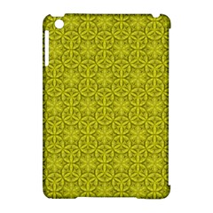 Flower Of Life Pattern Lemon Color  Apple Ipad Mini Hardshell Case (compatible With Smart Cover) by Cveti