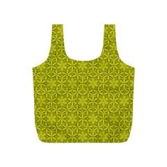 Flower Of Life Pattern Lemon Color  Full Print Recycle Bags (s)  by Cveti