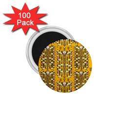 Rain Showers In The Rain Forest Of Bloom And Decorative Liana 1 75  Magnets (100 Pack)  by pepitasart