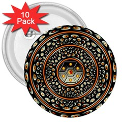 Dark Metal And Jewels 3  Buttons (10 Pack)  by linceazul