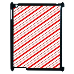 Candy Cane Stripes Apple Ipad 2 Case (black) by jumpercat