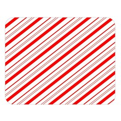 Candy Cane Stripes Double Sided Flano Blanket (large)  by jumpercat