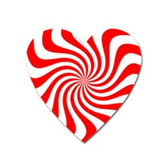Peppermint Candy Heart Magnet by jumpercat
