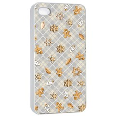 Gingerbread Light Apple Iphone 4/4s Seamless Case (white) by jumpercat