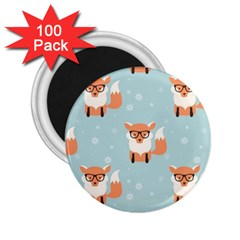 Cute Fox Pattern 2 25  Magnets (100 Pack)  by allthingseveryday