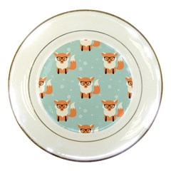 Cute Fox Pattern Porcelain Plates by allthingseveryday